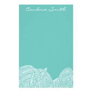 Cool Waves Personalized Stationery