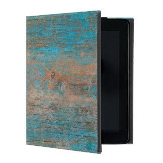 Cool Weathered Blue Peeling Paint Wood Texture iPad Cover