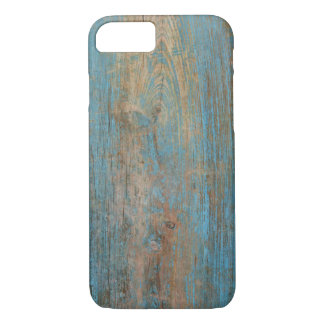Cool Weathered Blue Peeling Paint Wood Texture iPhone 7 Case