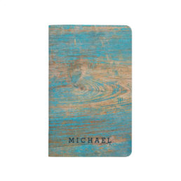 Cool Weathered Blue Peeling Paint Wood Texture Journal