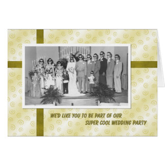 Cool Wedding Party Invite Card