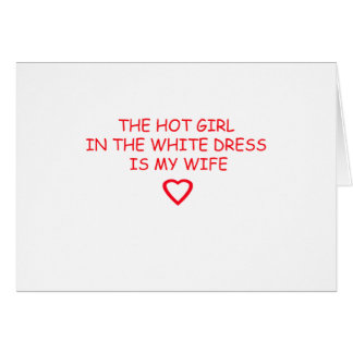 COOL WEDDING STUFF CARD