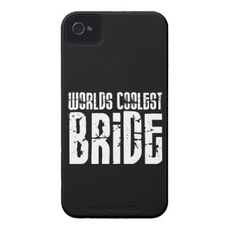 Cool Weddings Bridal Showers Worlds Coolest Bride iPhone 4 Case-Mate Case