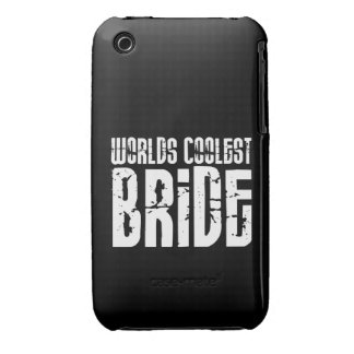 Cool Weddings Bridal Showers Worlds Coolest Bride iPhone 3 Cover