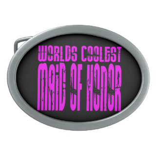 Cool Weddings : Pink Worlds Coolest Maid of Honor Belt Buckle