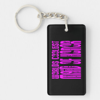 Cool Weddings : Pink Worlds Coolest Maid of Honor Double-Sided Rectangular Acrylic Keychain