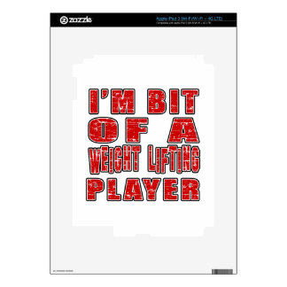 Cool Weight Lifting Designs Decal For iPad 3