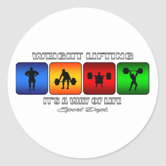 Cool Weight Lifting It Is A Way Of Life Classic Round Sticker