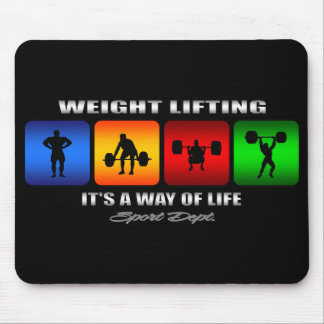 Cool Weight Lifting It Is A Way Of Life Mouse Pad