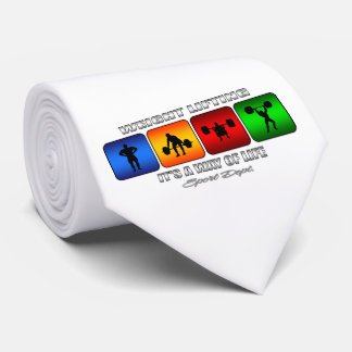 Cool Weight Lifting It Is A Way Of Life Neck Tie