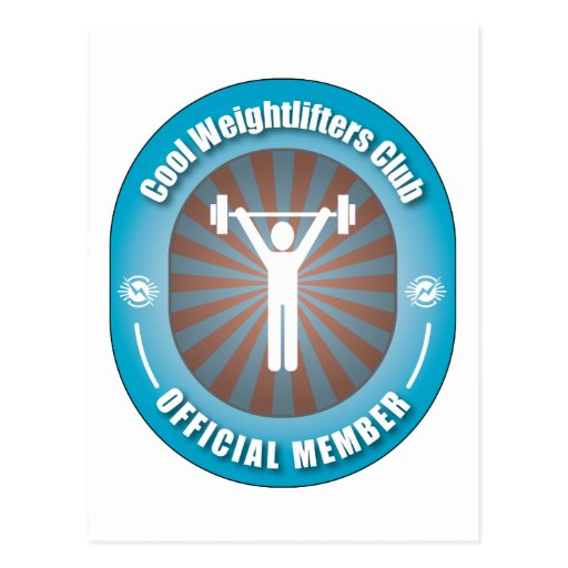 Cool Weightlifters Club Postcards