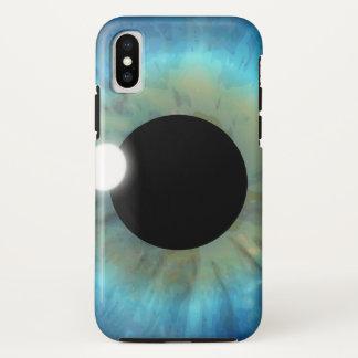 Cool Weird Blue Eye Iris Closeup Eyeball eyePhone iPhone X Case