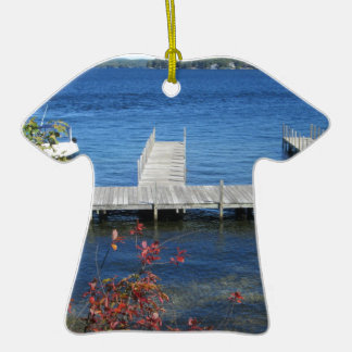 Cool Weirs Beach Dock Double-Sided T-Shirt Ceramic Christmas Ornament