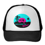 Cool Welcome to Miami design Mesh Hat
