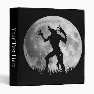 Cool Werewolf Full Moon Transformation 3 Ring Binder