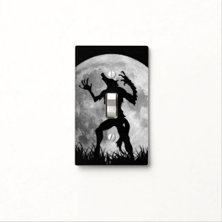 Cool Werewolf Full Moon Transformation Light Switch Cover