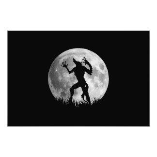 Cool Werewolf Full Moon Transformation Photograph