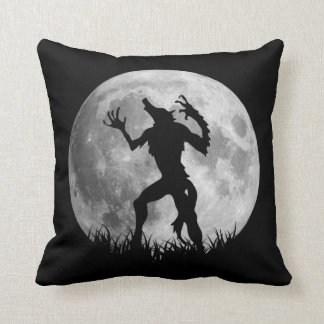 Cool Werewolf Full Moon Transformation Throw Pillow