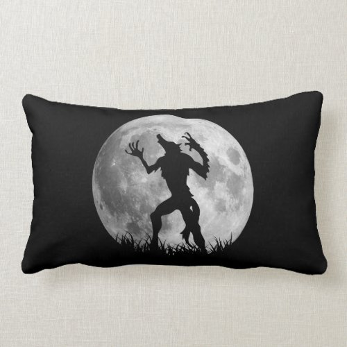 Cool Werewolf Full Moon Transformation Pillow