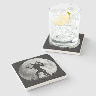 Cool Werewolf Full Moon Transformation Stone Coaster