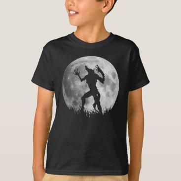 Halloween Themed Cool Werewolf Full Moon Transformation T-Shirt