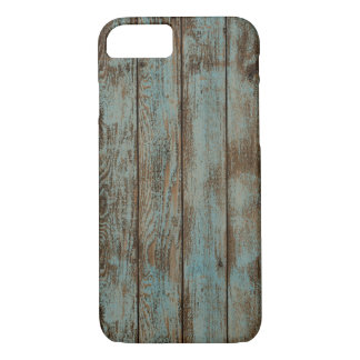 cool western country blue barn wood woodgrain iPhone 7 case