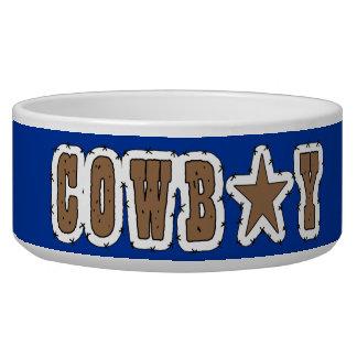 Cool Western Cowboy Herding Dogs Bowl