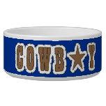 Cool Western Cowboy Herding Dogs Pet Water Bowl