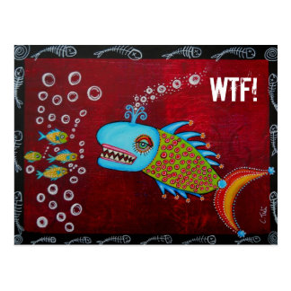 Cool Whale - WTF! Postcard