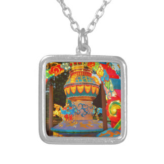 Cool Whimsical Japanese Lantern Art Silver Plated Necklace