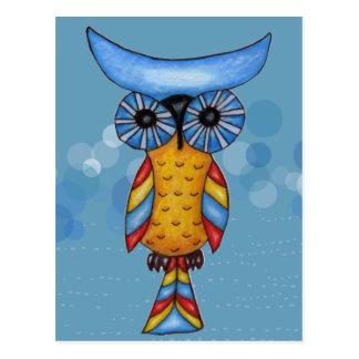 Cool Whimsical Owl Postcard