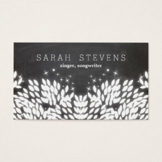 Cool Whimsical Singer, Songwriter Music Business Card
