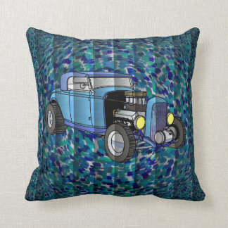 Cool Whirlwind Roadster Throw Pillow