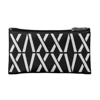 Cool White Black Pattern Teen Travels Cosmetic Bag