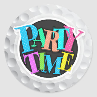 Cool White Golf Ball Texture, Golfer Classic Round Sticker