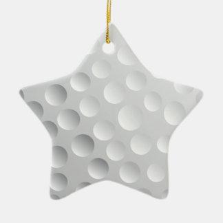 Cool White Golf Ball Texture, Golfer Christmas Ornament
