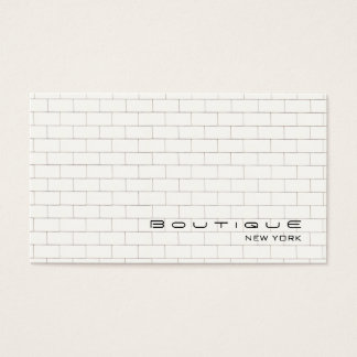 Cool White Subway Tile Pattern Business Card