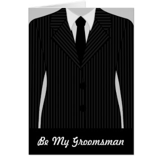 Cool Will You Be My Groomsman Greeting Card