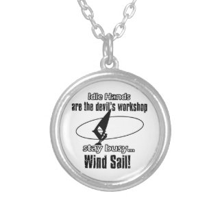 Cool wind sail  designs personalized necklace