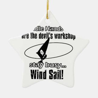 Cool wind sail  designs christmas tree ornament