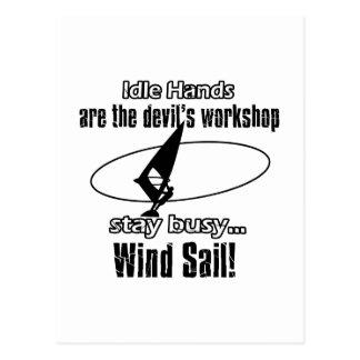 Cool wind sail  designs postcard