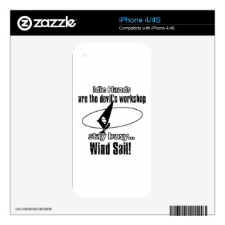 Cool wind sail  designs decal for iPhone 4