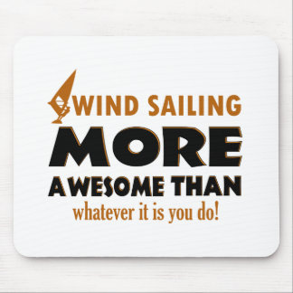 Cool Wind Sailing designs Mouse Pad