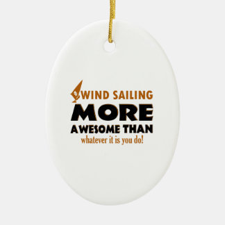 Cool Wind Sailing designs Christmas Tree Ornaments