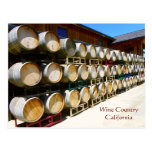 Cool Wine Country/Barrel Postcard! Postcard