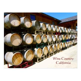 Cool Wine Country/Barrel Postcard! Postcard