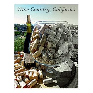 Cool Wine Postcard! Postcard