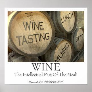 Cool Wine Tasting Barrel Poster! Poster
