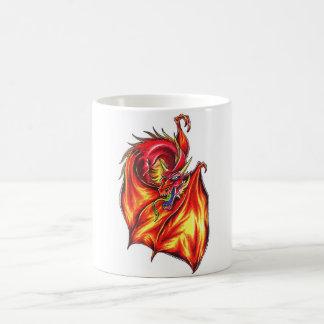Cool  Winged Red Dragon  tattoo style mug