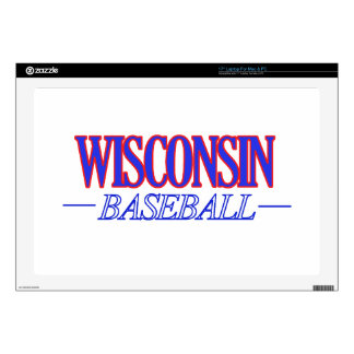 """cool Wisconsin state baseball DESIGNS Decal For 17"""" Laptop"""